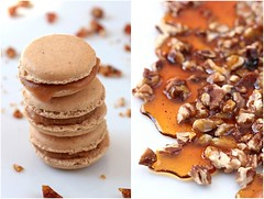 Pecan Pie Macarons and Pecan Brittle | by tartelette