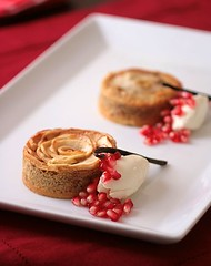 Apple Frangipane Tartelettes And Cheesecake Ice Cream | by tartelette