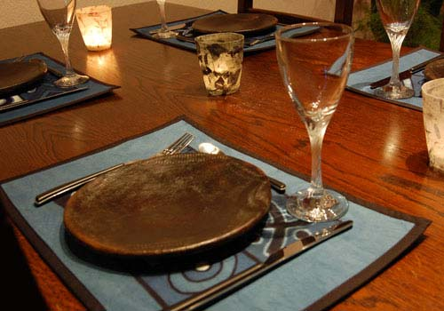 Decoration Table Bleu Depart En Retraie