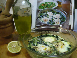 Spinach Baked with Eggs and Cream | by SeppySills