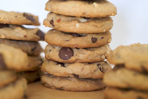 Chunky Peanut, Chocolate, and Cinnamon Cookies | by bakeorbreak
