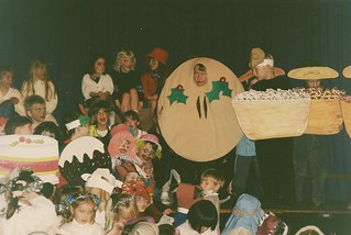 "Matthew in ""That Mince pie"" Mum made costume!  approx 1995 