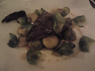Le Gaigne: Woodpigeon with Brussels sprouts and smoked lard | by clotilde
