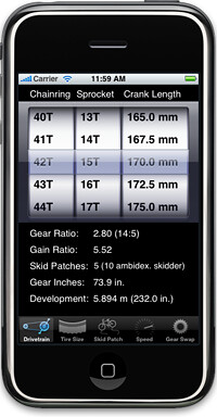 Iphone Bicycle Gear Calculator App | by Dapper Lad Cycles