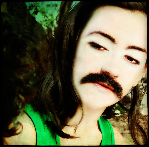 also presenting a woman with a moustache on the day she decided that drinking coffee twice every hour is a bad habit | by pfv.