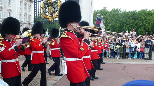 Buckingham Palace Changing of the Guard ceremony close up