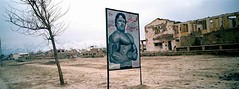 An advertisement for a weight room and gym in Kabul. Karte Seh, Kabul. | by UNHCR