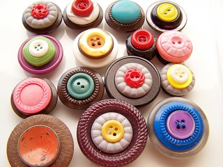 Vintage Button Magnets | by polishedtwo