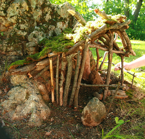 Fairy house today at blue mounds state park brian miskell flickr - Houses made from natural materials ...