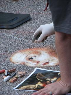 Sidewalk art a street painting festival via colori benef