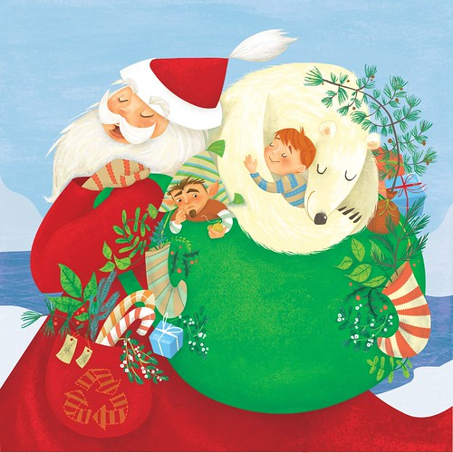 """Santa Goes Green"" Cover illustration 