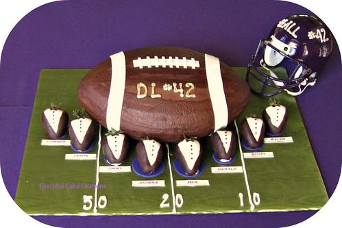 Chocolate Football Cake Pops