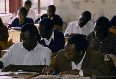 Young men and women in the classroom | by World Bank Photo Collection