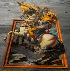 3D Street Painting - Napoleon Escapes | by Tracy Lee Stum