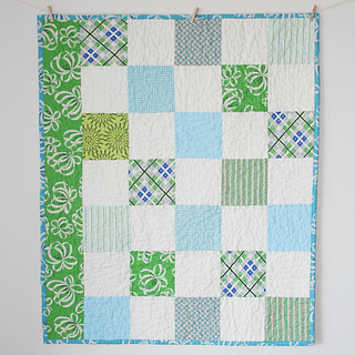 Blue and Green Quilt | by cluckclucksew