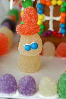 Gingerbread House -- snowman close-up | by Wendy Copley