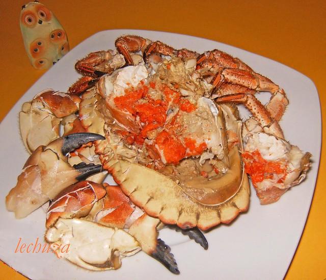 Buey de mar cocido