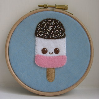 Ice Lolly embroidery | by Stitcher Scribbler