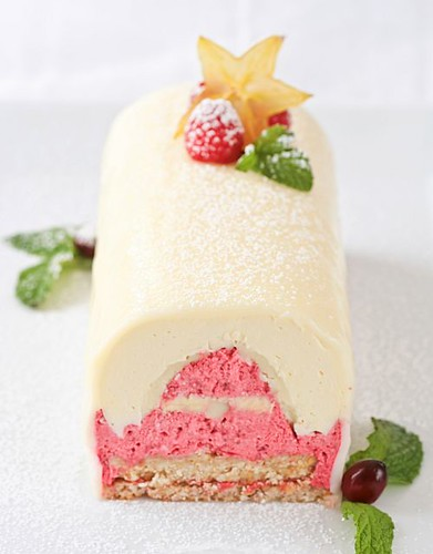 Meyer Lemon White Chocolate Raspberry Yule Log | by tartelette