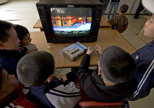 Billy Vs Jimmy , video games - Songdowon International Children's Union Camp in Wonsan - North Korea | by Eric Lafforgue