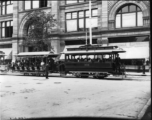 Electric trams, Ste. Catherine St., Montreal, QC, 1895 | by Musée McCord Museum