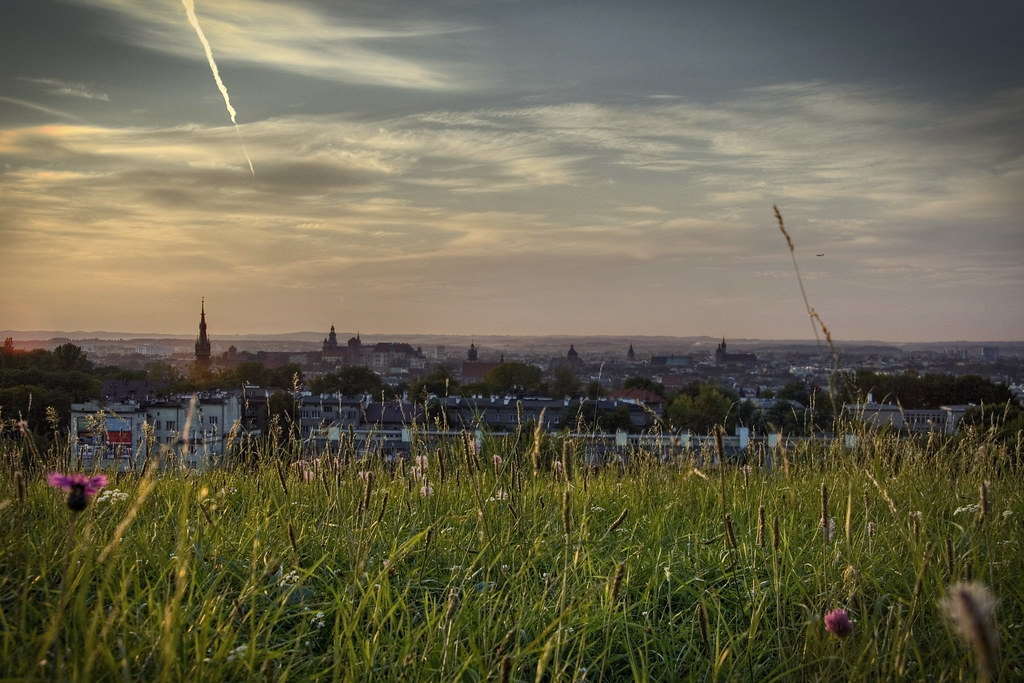 Vue sur Cracovie depuis le Tertre de Krakus - Photo de Smif @ Flickr