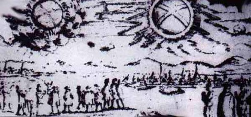 UFO glowing wheels sighting over Hamburg Germany November 4 1697 | by galacticexplorer