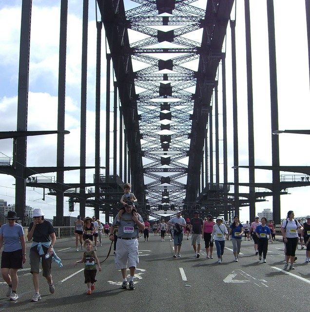 Running Over the Sydney Harbor Bridge