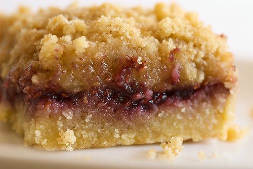 Raspberry Hazelnut Crumble Bars | by bakeorbreak