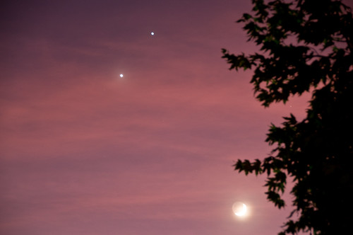 Venus, Jupiter, and the Moon | by Dave Schumaker