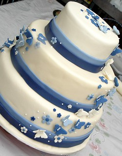 Blue butterfly wedding cake 1 | by EyMie