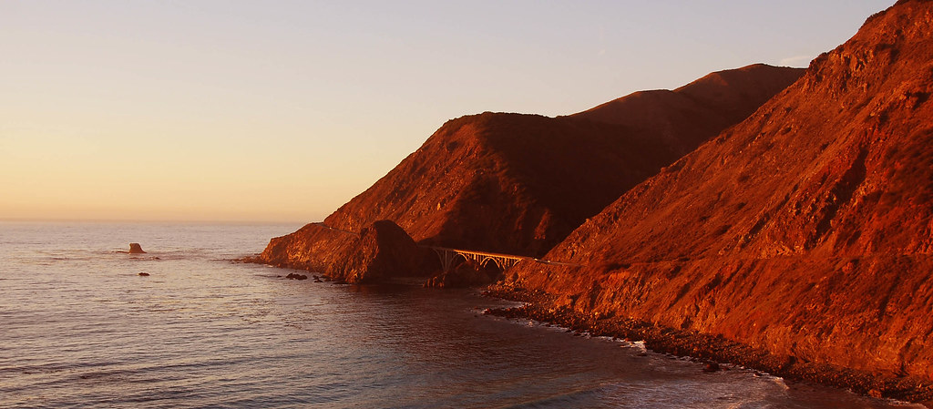 highway 1 at sunset