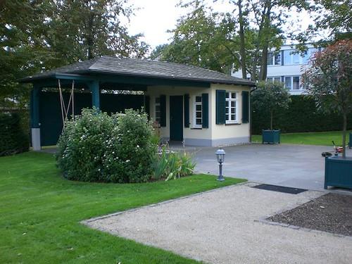 Gartenhaus gemauert mit Vordach : galabaufischer : Flickr