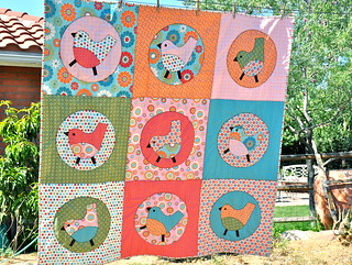 Birdie Big Block Quilt | by Melanie Dramatic
