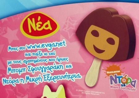 Dora Ice Cream Coloring Page