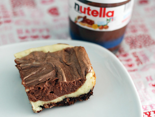 nutella cheesecake squares | by rachel is coconut&lime
