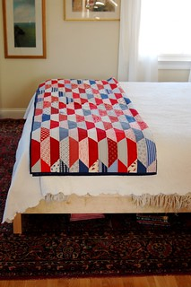 red white and blue quilt | by DruryGirl