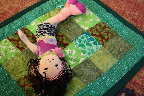 doll quilt_green front | by at the end of this row