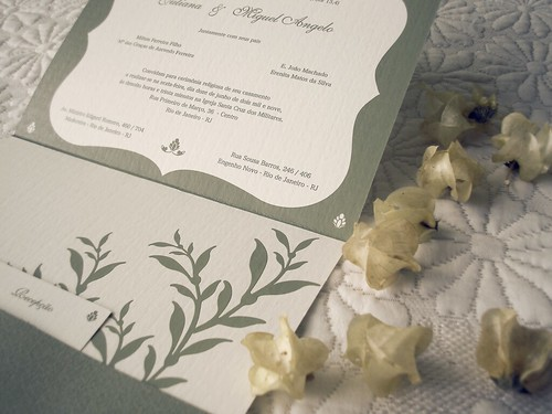 Wedding invitation | by Barbara Ferreira