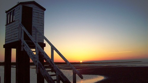 Sunset on Holy Island Causeway | by Darren Schofield