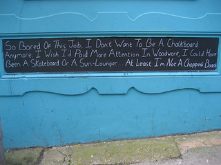 Existentialist chalkboard | by adactio