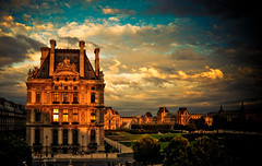 Paris Louvre at sunset | by tibchris