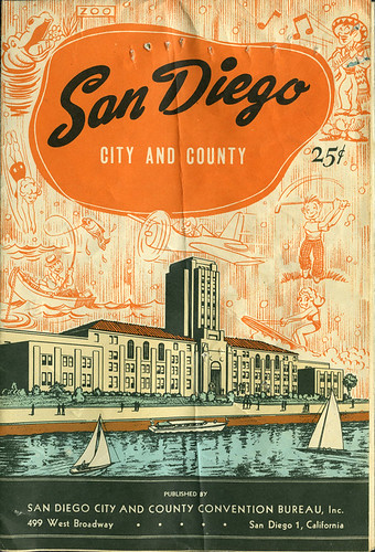 ephemera - San Diego map - front | by Jassy-50