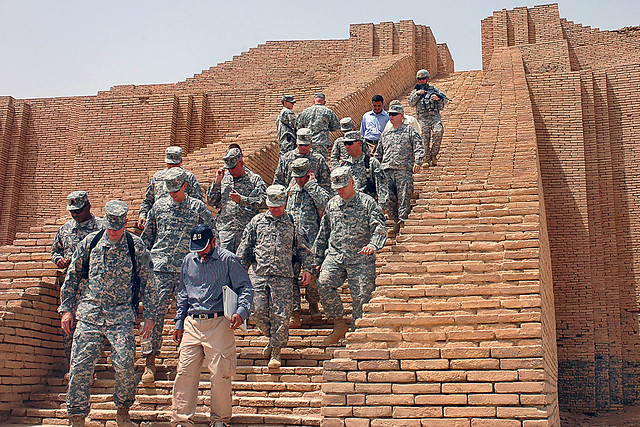 Soldiers tour Ziggurat of Ur