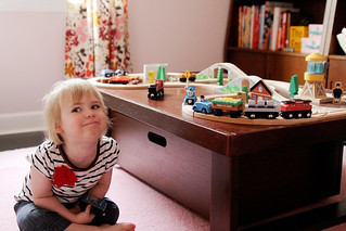 Eleanor, Playing with Trains | by Nicole Balch