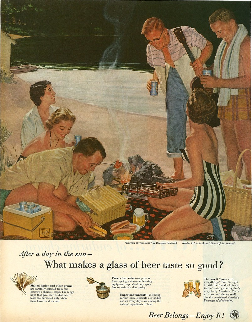 111. Supper on the Sand by Douglass Crockwell, 1955