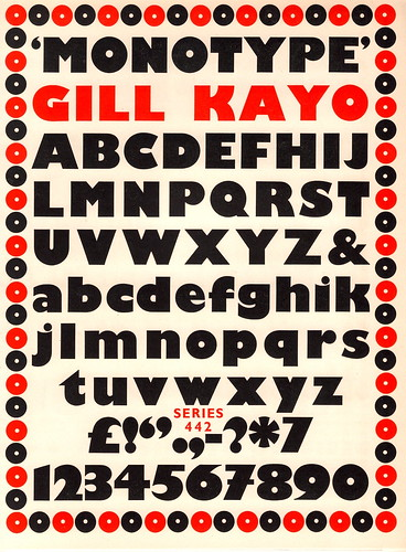 """Kayo"" typeface for Monotype by Eric Gill, 1936 