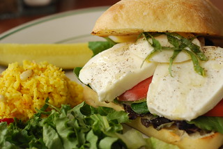 fresh mozzarella sandwich @ beans & barley | by h-bomb