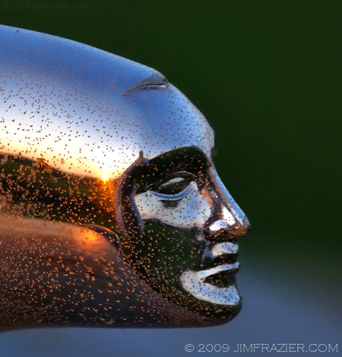Hood Ornament Sunset | by Jim Frazier