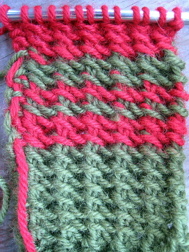 Faux Tunisian stitch   I unvented this knitting stitch ...